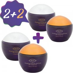 2+2 Dead Sea Salt Scrub Natural Secrets 840 g + Dead Sea Salt Scrub Ocean Rain 840 g